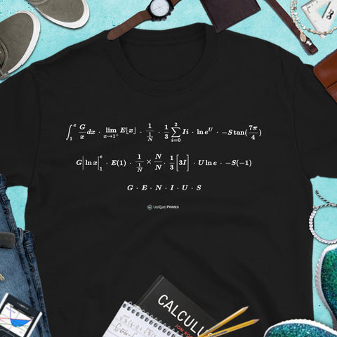 GENIUS Math Message Unisex T-shirt