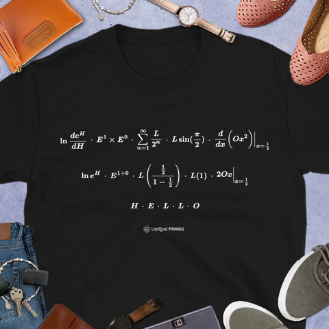 HELLO Math Message Unisex T-shirt