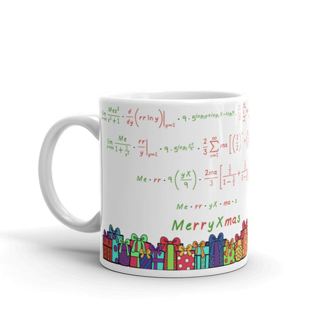 Christmas Tree Math Message Mug
