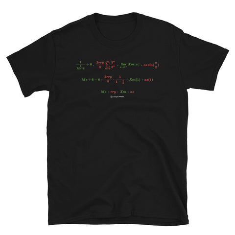 MerryXmas Math Message Unisex T-shirt