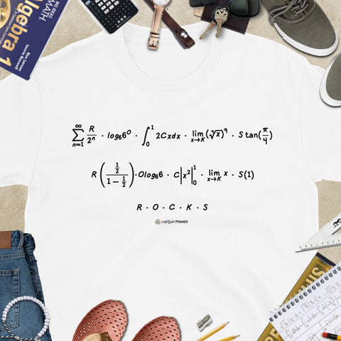 ROCKS Math Message Unisex T-shirt