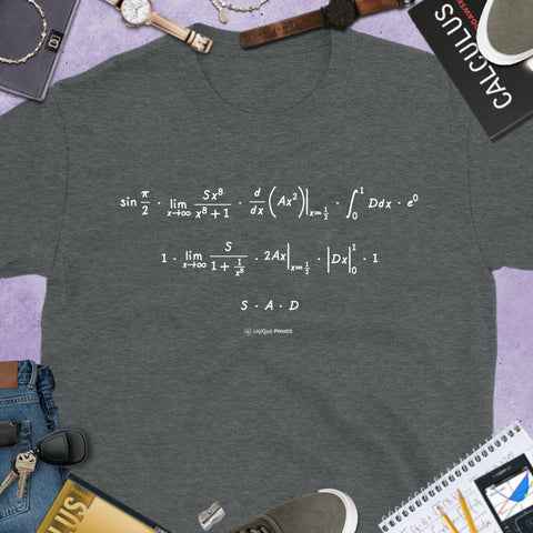SAD Math Message Unisex T-shirt