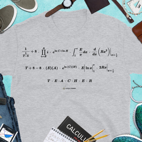 TEACHER Math Message Unisex T-shirt