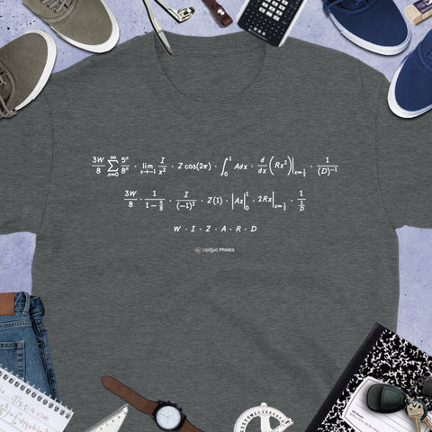 WIZARD Math Message Unisex T-shirt