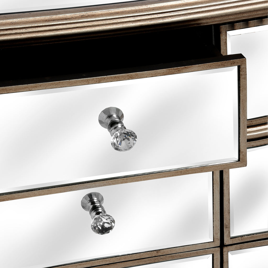 Aurora Mirrored Double Chest of Drawers
