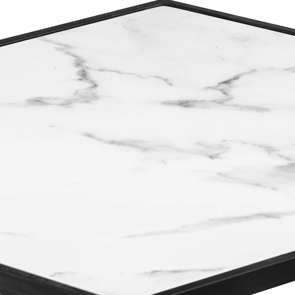 Mono Marble Hex Table