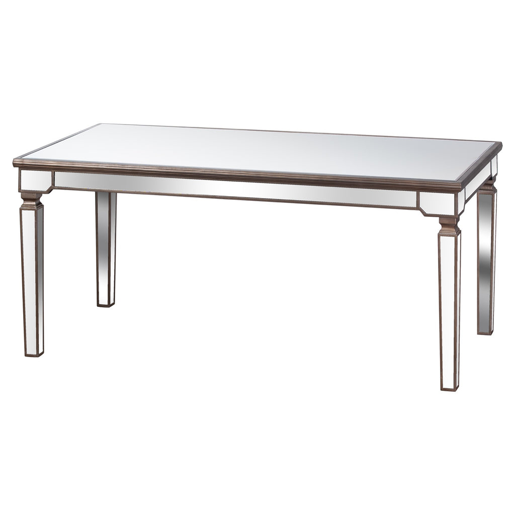 Aurora Rectangle Mirrored Dining Table