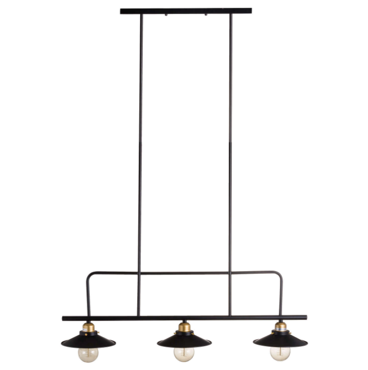 Black And Brass Industrial Light Trio