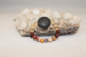 Citrine and Mookaite Kids Aroma Bracelet