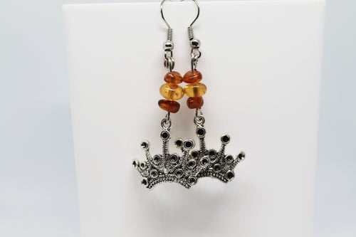 Amber Crown Earrings