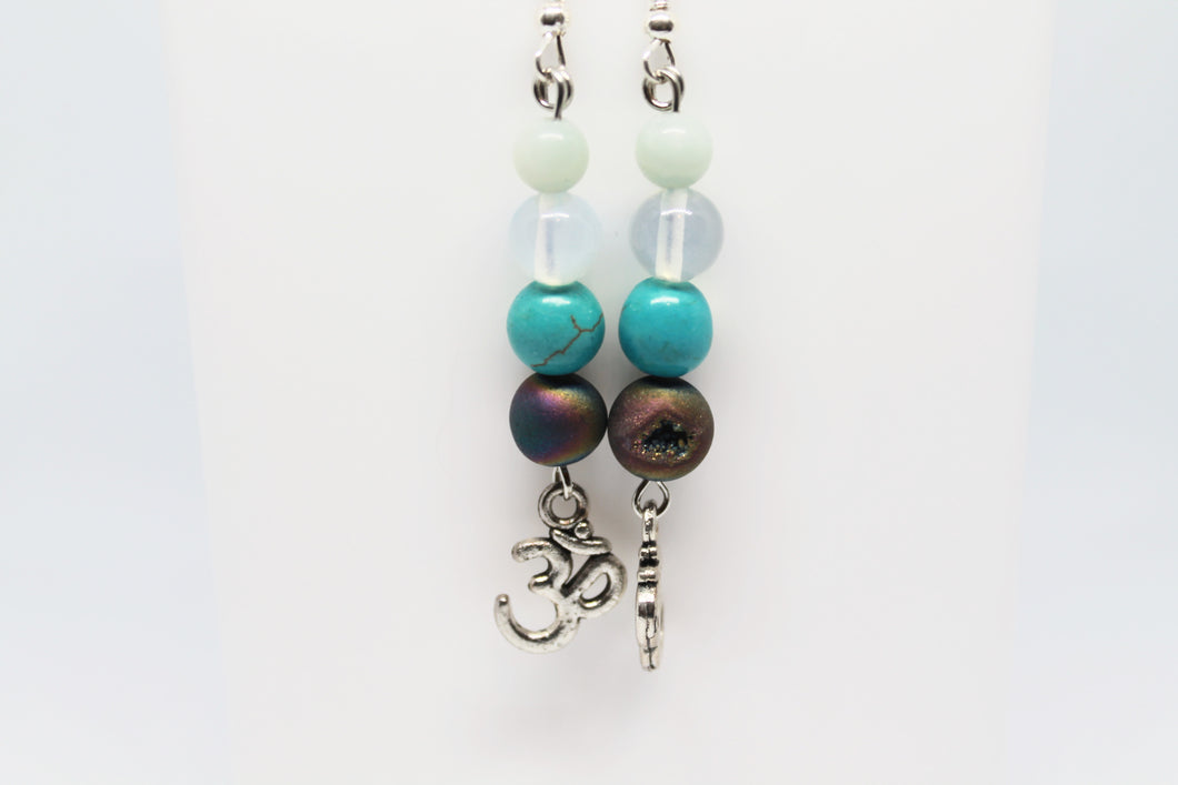 Multi Stone OM Earrings