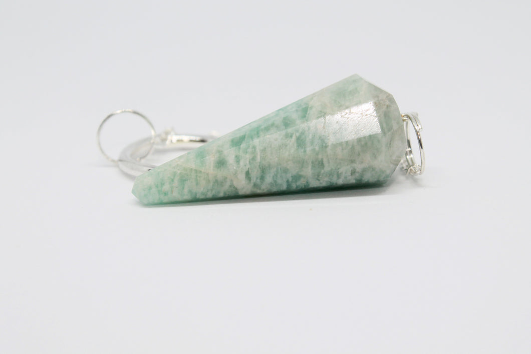 Amazonite Faceted Pendulum