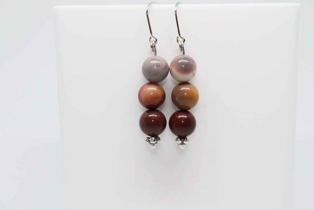 Mookaite 925 Earrings