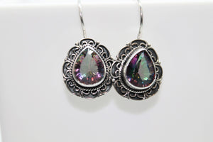 Mystic Topaz 925 Earrings