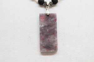 Lepidolite feature necklace