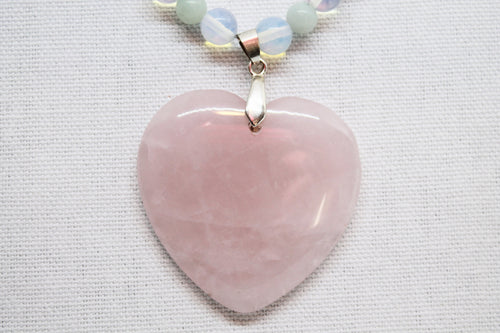 Rose Quartz feature necklace