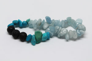 Turquoise and Aquamarine Arome Bracelet
