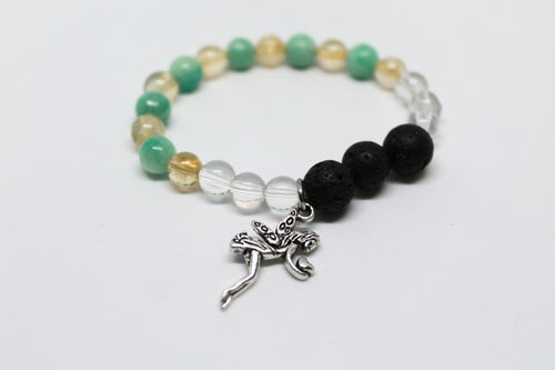 Citrine, Amazonite and Clear Quartz kids Aroma bracelet