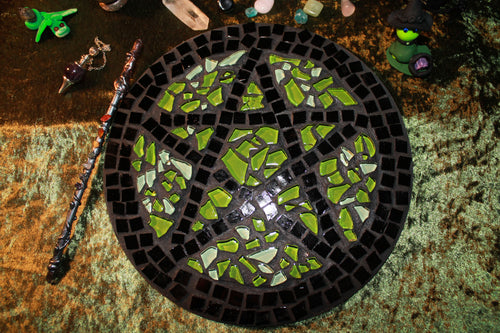 Green Earth Pentacle Alter Piece