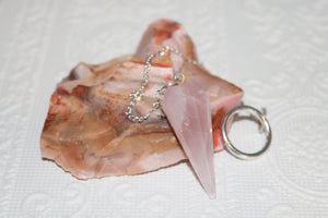 Rose Quartz Faceted Pendulum