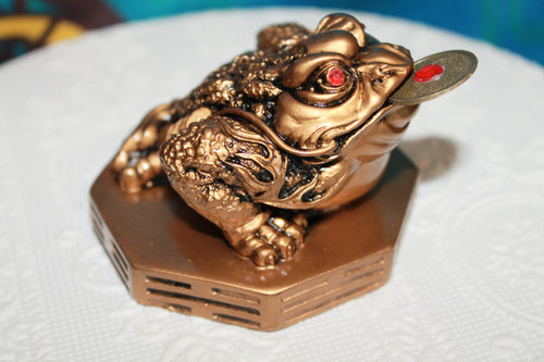 Money Frog On Bagua W/Coin Gold