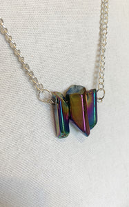 Aura Quartz Necklaces