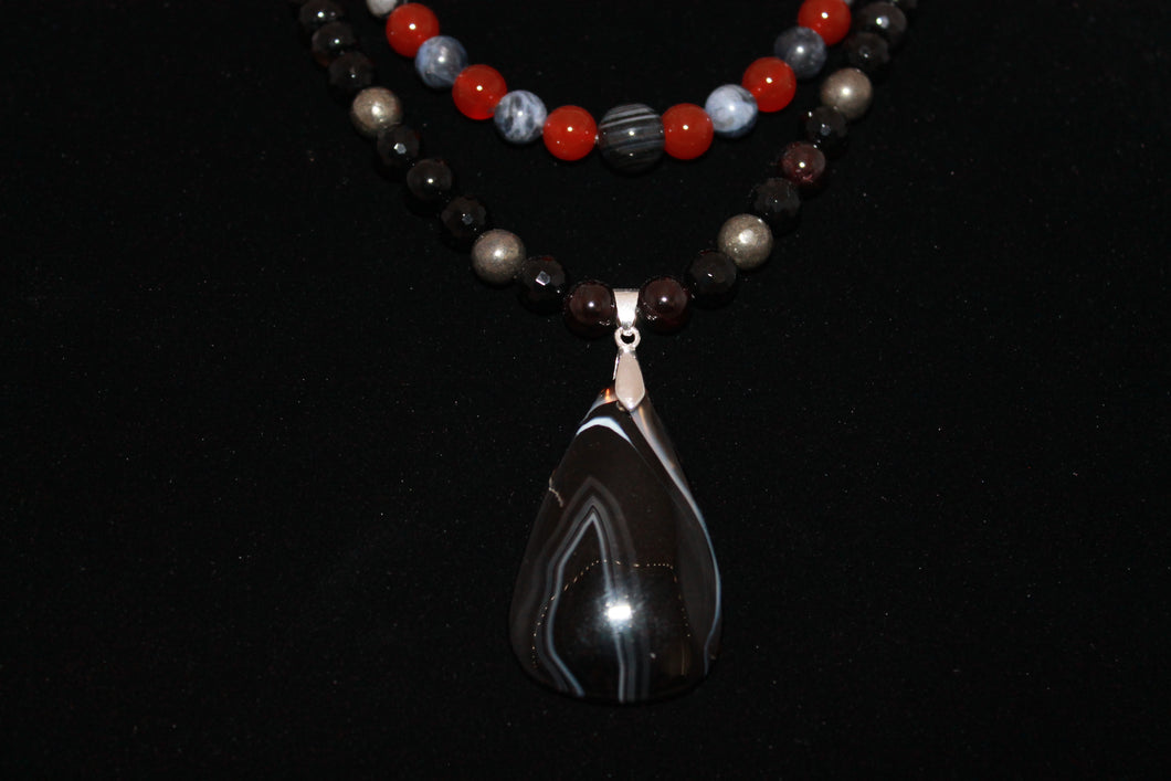 Black Agate Feature necklace