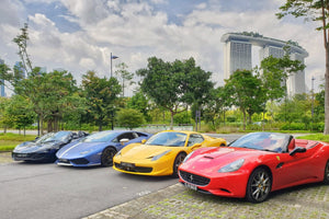 Four luxury cars