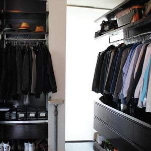 Mens walk in wardrobe
