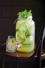 Green cocktail in jug