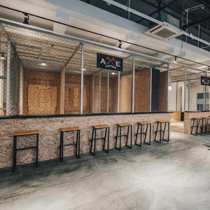 Indoor axe throwing range