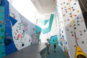 Indoor rock climbing venue