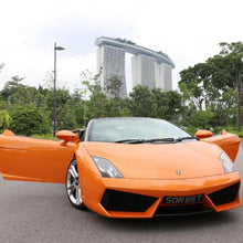 An orange Lamborghini