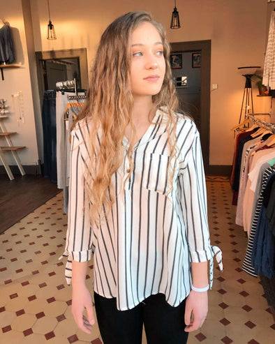 Amelia Striped Blouse