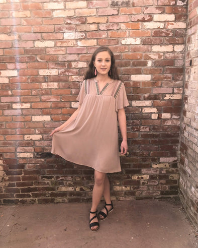 Cheyenne Mocha Shift Dress