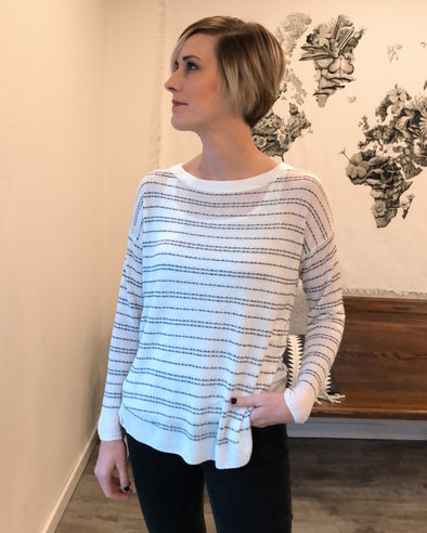 Dreamlover Dot-Striped Pullover
