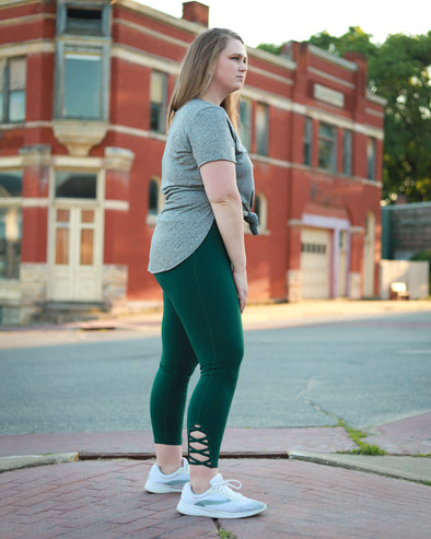 Forrest Green Lattice Leggings