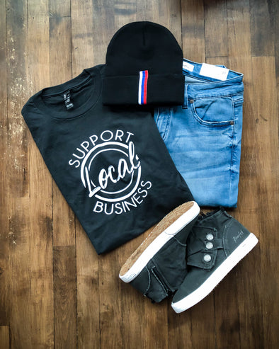 'Support Local Business' Graphic Tee