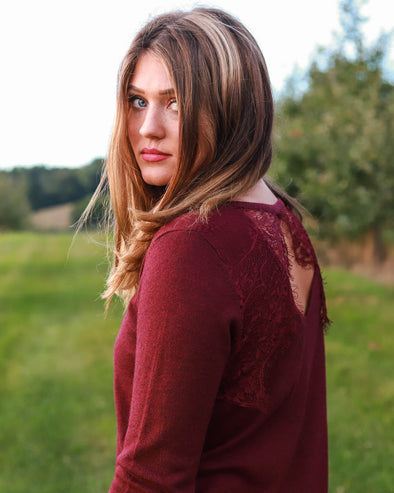 Leani Lace-Back Sweater