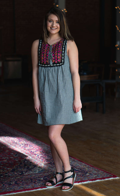 Marcella Embroidered Dress