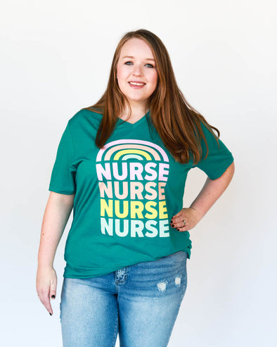 'Nurse Rainbow' Graphic Tee