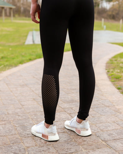 Perforated High Waist Leggings