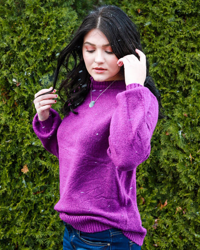 Sloane Puff-Sleeve Sweater