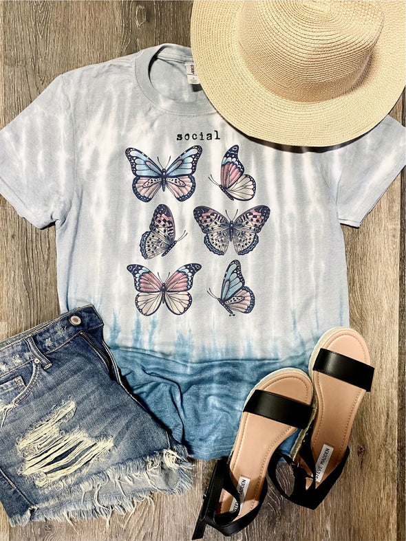 Social Butterfly Graphic Tee