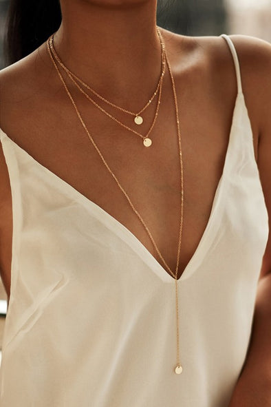Three-Strand Lariat Necklace