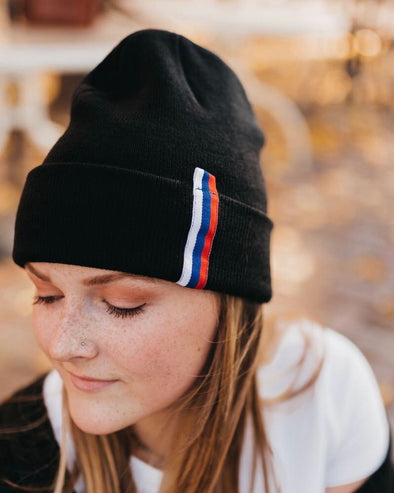Varsity Striped Knit Beanie