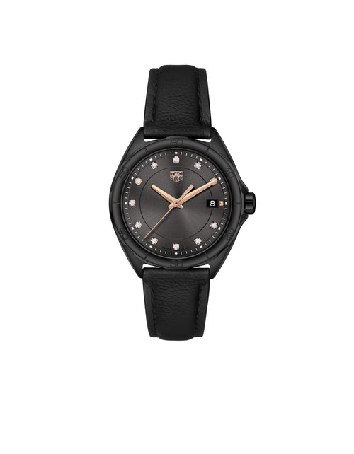 Formula 1 Lady Black & Rose Gold with Diamond Dial Quartz Watch