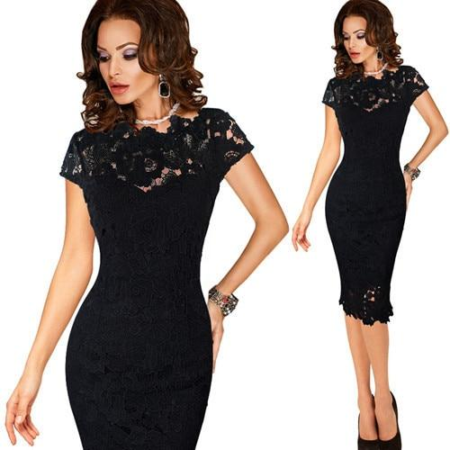 work office business sheath bodycon dress robe crayon - Bec's luxury store