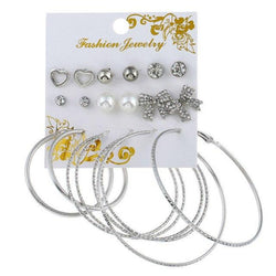 9Pair/Set Fashion Oversize Butterfly Earring Set - Bec's luxury store