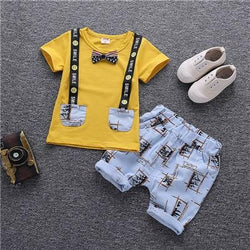 Summer Children Clothing Cartoon  Sets Baby Boy Outfit - Bec's luxury store